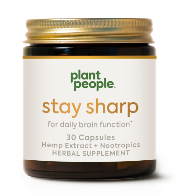 CBD Capsules Stay Sharp CBD Pills by Plant People