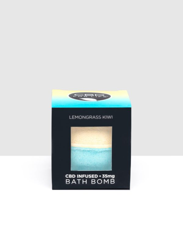 CBD For Life Lemongrass Kiwi CBD Bath Bomb
