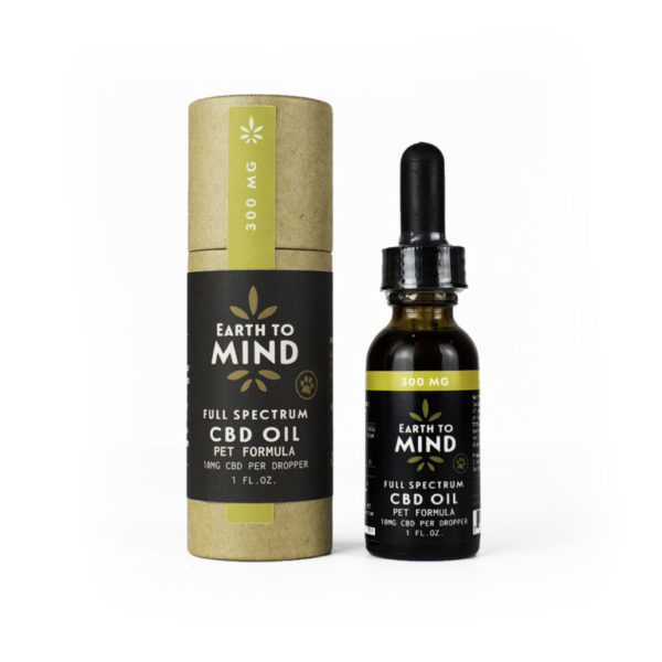Earth To Mind Full-Spectrum 300mg Pet CBD for Cats and Dogs